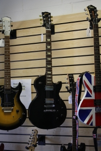 Selection of electric guitars--Including Gibson