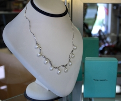 Tiffany & Co. sterling silver and pearl necklace